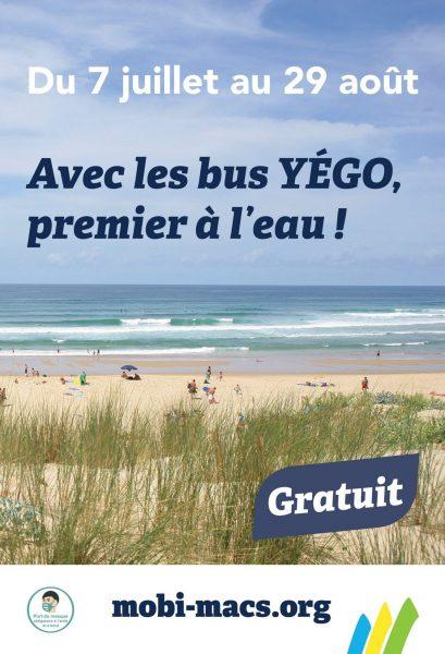 Bus Yégo Plages : du nouveau cet été !